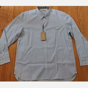 "Burberry ""William"" Poplin Check Detail Sport Shirt"